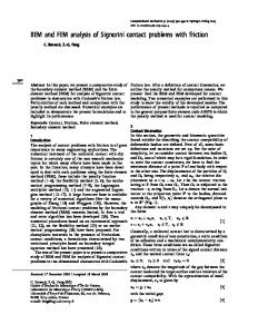 BEM and FEM analysis of Signorini contact problems with friction