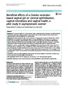 Beneficial effects of a Coriolus versicolor-based vaginal gel on cervical epithelization, vaginal microbiota and vaginal health: a pilot study in asymptomatic women