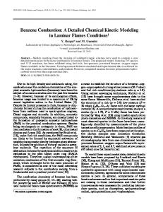 Benzene combustion: A detailed chemical kinetic modeling in laminar flames conditions
