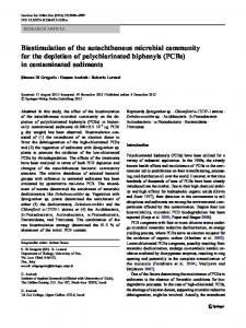 Biostimulation of the autochthonous microbial community for the depletion of polychlorinated biphenyls (PCBs) in contaminated sediments