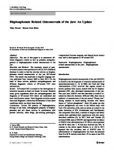 Bisphosphonate Related Osteonecrosis of the Jaw: An Update