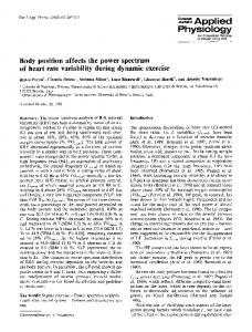 Body position affects the power spectrum of heart rate variability during dynamic exercise