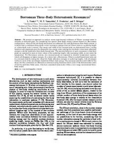Borromean three-body heteroatomic resonances