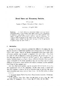 Bound states and elementary particles