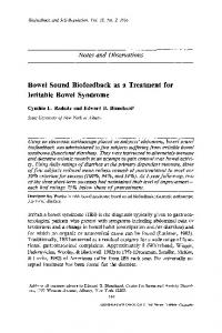Bowel sound biofeedback as a treatment for irritable bowel syndrome