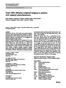 Brain MRI diffusion-weighted imaging in patients with classical phenylketonuria