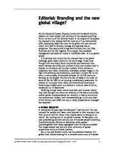 Branding and the new global village?