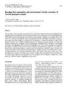 Breeding bird communities and environmental variable correlates of Scottish peatland wetlands