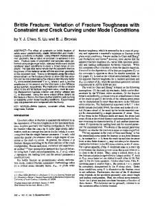 Brittle fracture: Variation of fracture toughness with constraint and crack curving under mode I conditions