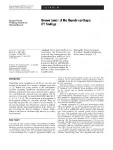 Brown tumor of the thyroid cartilage: CT findings