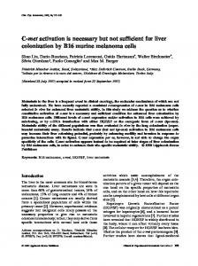C-met activation is necessary but not sufficient for liver colonization by B16 murine melanoma cells