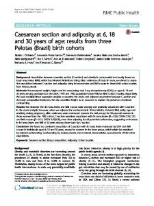 Caesarean section and adiposity at 6, 18 and 30years of age: results from three Pelotas (Brazil) birth cohorts