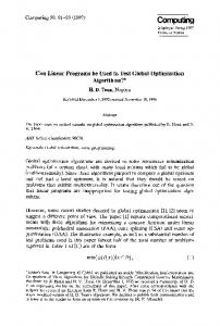 Can linear programs be used to test global optimization algorithms?