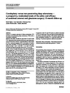 Canaloplasty versus non-penetrating deep sclerectomy – a prospective, randomised study of the safety and efficacy of combined cataract and glaucoma surgery; 12-month follow-up