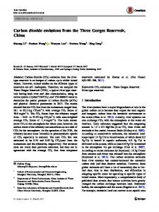 Carbon dioxide emissions from the Three Gorges Reservoir, China