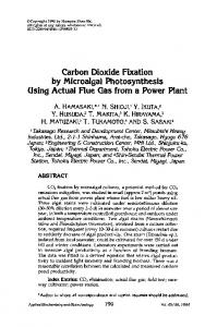 Carbon dioxide fixation by microalgal photosynthesis using actual flue gas from a power plant