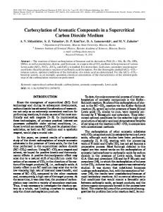 Carboxylation of aromatic compounds in a supercritical carbon dioxide medium