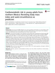 Cardiometabolic risk in young adults from northern Mexico: Revisiting body mass index and waist-circumference as predictors