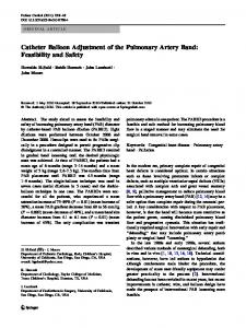 Catheter Balloon Adjustment of the Pulmonary Artery Band: Feasibility and Safety