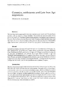 Ceramics, settlements and Late Iron Age migrations