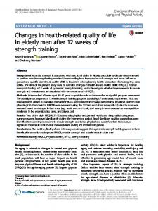 Changes in health-related quality of life in elderly men after 12weeks of strength training