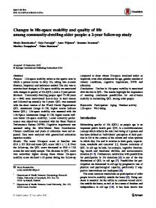 Changes in life-space mobility and quality of life among community-dwelling older people: a 2-year follow-up study