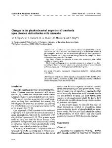 Changes in the physicochemical properties of transferrin upon chemical derivatization with ceramides