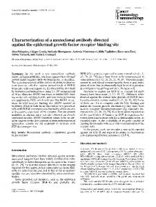 Characterization of a monoclonal antibody directed against the epidermal growth factor receptor binding site