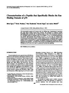 Characterization of a Peptide that Specifically Blocks the Ras Binding Domain of p75