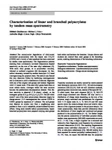 Characterization of linear and branched polyacrylates by tandem mass spectrometry