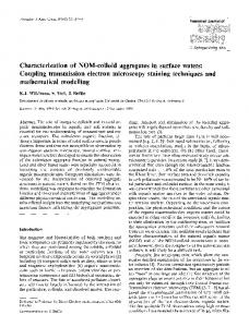 Characterization of NOM-colloid aggregates in surface waters: Coupling transmission electron microscopy staining techniques and mathematical modelling