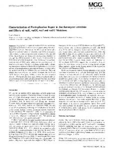 Characterization of postreplication repair in Saccharomyces cerevisiae and effects of rad6, rad18, rev3 and rad52 mutations