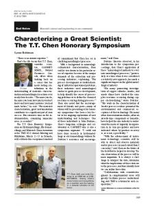 Characterizing a Great Scientist
