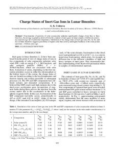 Charge states of inert gas ions in lunar ilmenites