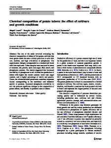 Chemical composition of potato tubers: the effect of cultivars and growth conditions