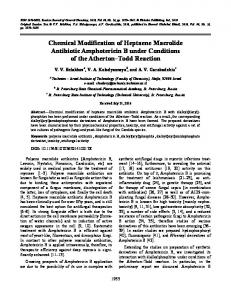 Chemical modification of heptaene macrolide antibiotic Amphotericin B under conditions of the Atherton-Todd reaction