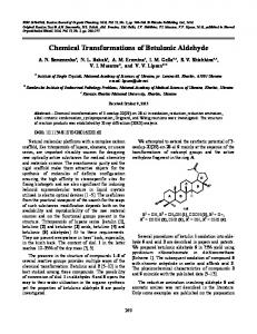 Chemical transformations of betulonic aldehyde