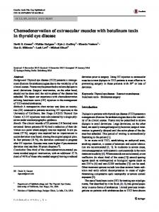 Chemodenervation of extraocular muscles with botulinum toxin in thyroid eye disease