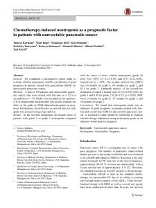 Chemotherapy-induced neutropenia as a prognostic factor in patients with unresectable pancreatic cancer
