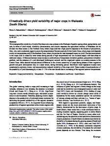 Climatically driven yield variability of major crops in Khakassia (South Siberia)