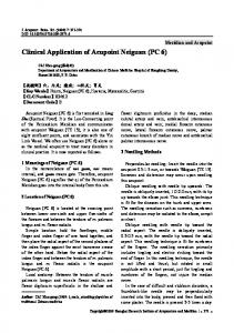 Clinical application of Acupoint Neiguan (PC 6)