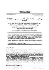CMOS image sensor with optimal video sampling scheme