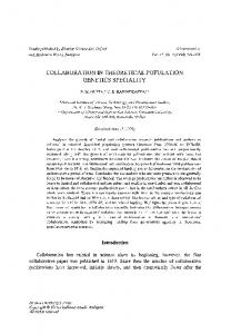 Collaboration in theoretical population genetics speciality