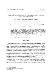 Collaboration profile of theoretical population genetics speciality