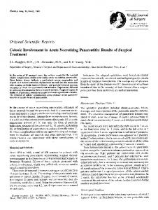 Colonic involvement in acute necrotizing pancreatitis: Results of surgical treatment