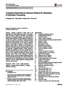 Combined Finite-Discrete Element Method for Simulation of Hydraulic Fracturing