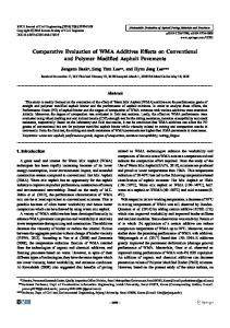 Comparative Evaluation of WMA Additives Effects on Conventional and Polymer Modified Asphalt Pavements