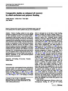 Comparative studies on enhanced oil recovery by alkali–surfactant and polymer flooding