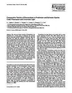 Comparative Toxicity of Fluoranthene to Freshwater and Saltwater Species Under Fluorescent and Ultraviolet Light