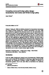 Competing norms and foreign policy change: humanitarian intervention and British foreign policy
